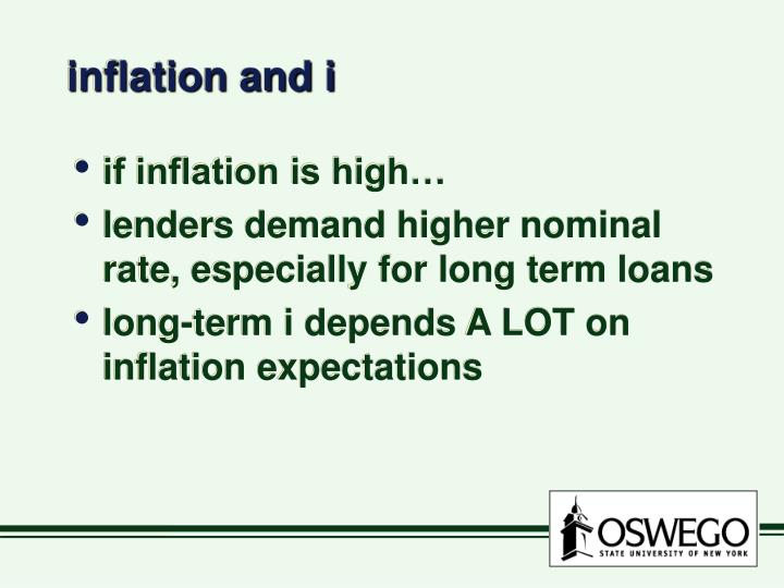 inflation and i