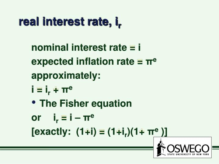 real interest rate, i