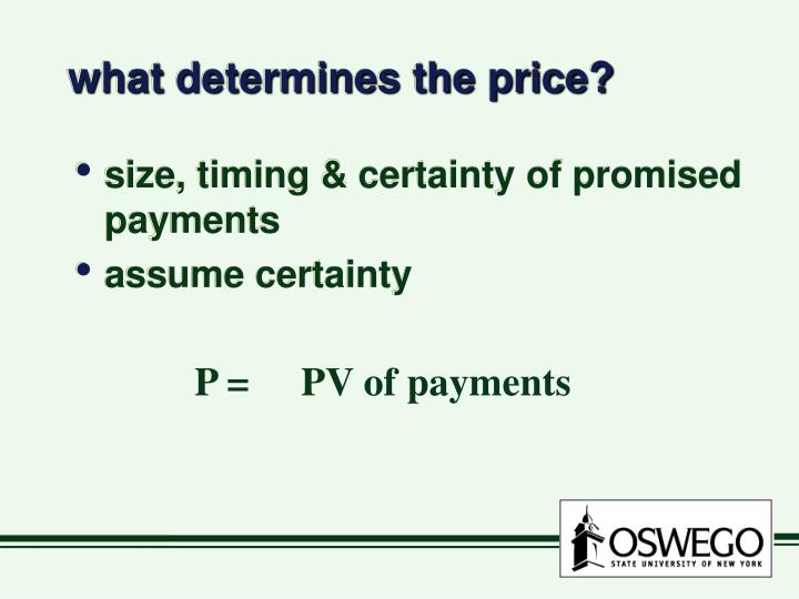 what determines the price?
