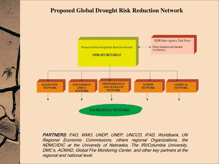 Proposed Global Drought Risk Reduction Network
