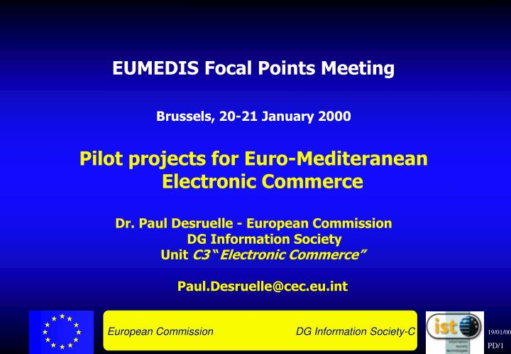 EUMEDIS Focal Points Meeting