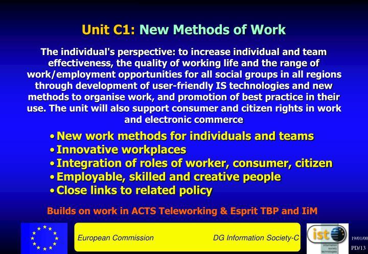 Unit C1: