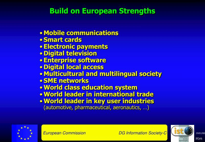 Build on European Strengths
