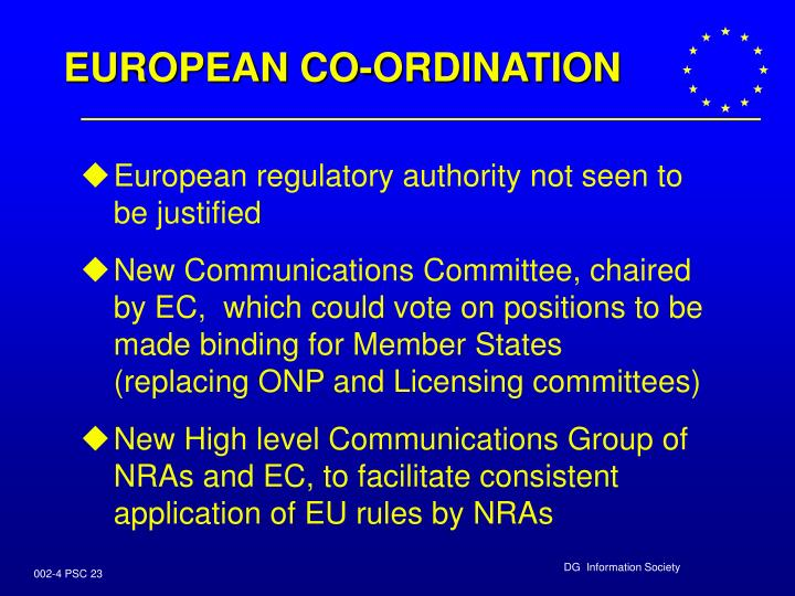 EUROPEAN CO-ORDINATION