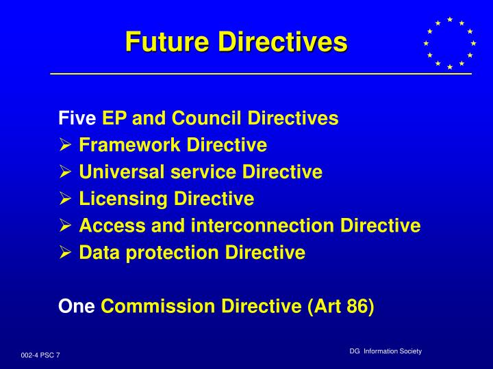 Future Directives