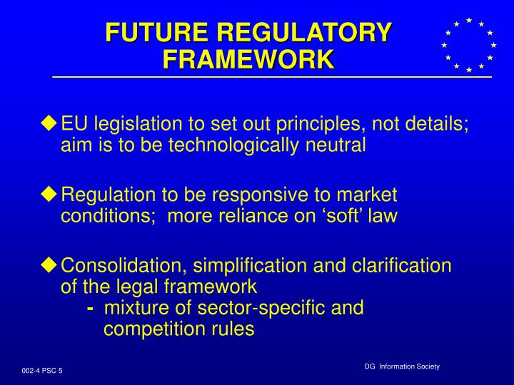 FUTURE REGULATORY FRAMEWORK
