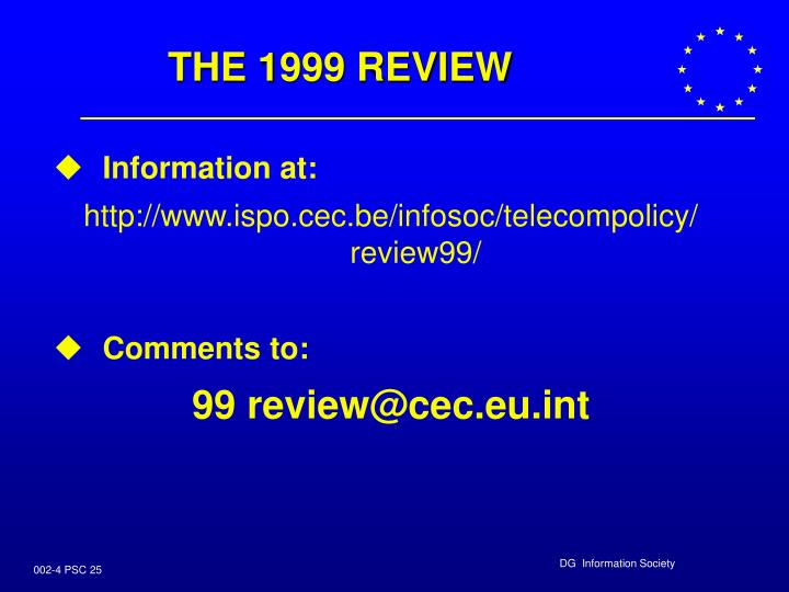 THE 1999 REVIEW