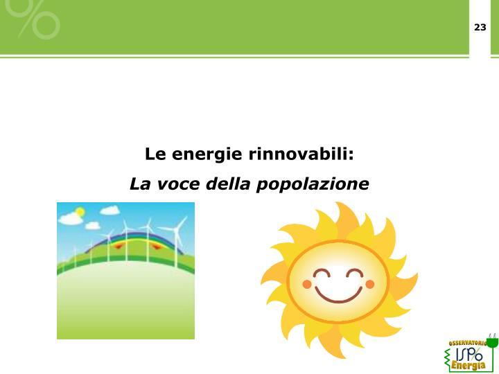 Le energie rinnovabili: