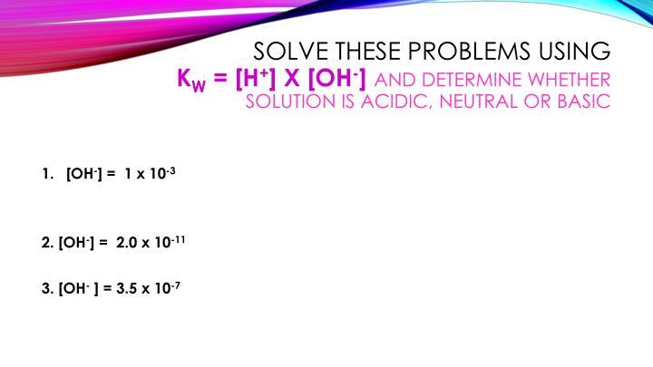 Solve these problems using