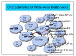 characteristics of wide area bottlenecks