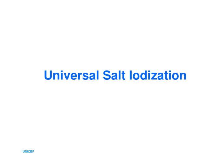 Universal Salt Iodization