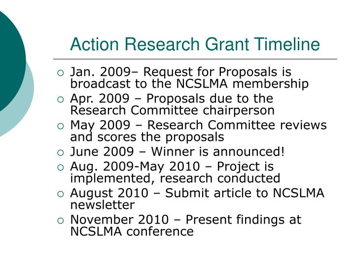 Action Research Grant Timeline