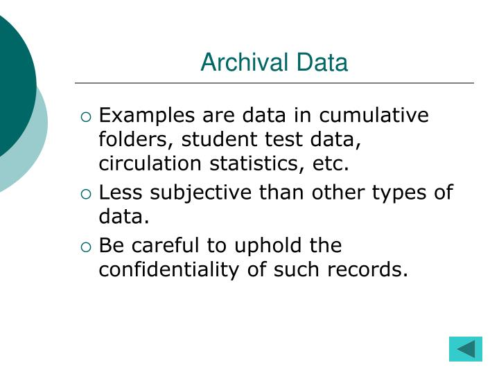Archival Data