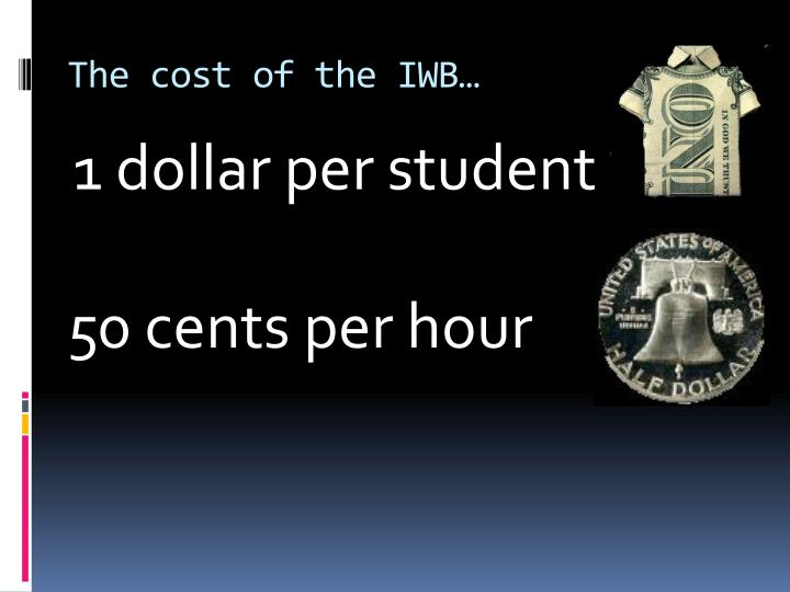 The cost of the IWB…