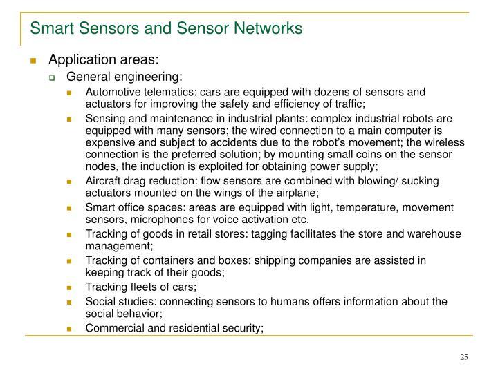 Smart Sensors and Sensor Networks