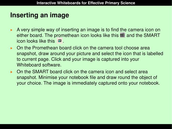 Inserting an image