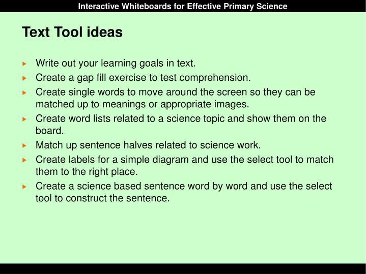Text Tool ideas