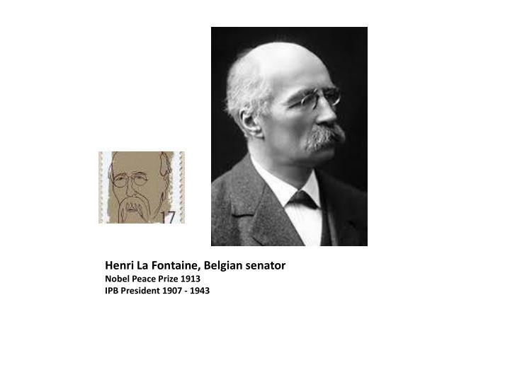 Henri La Fontaine,