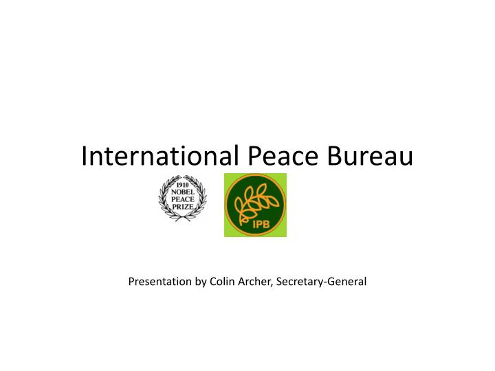 International peace bureau