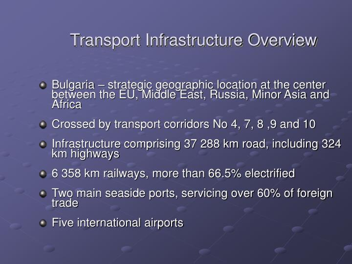 Transport Infrastructure Overview