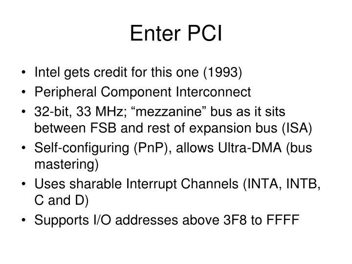 Enter PCI