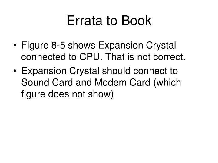 Errata to Book