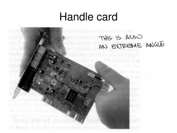 Handle card