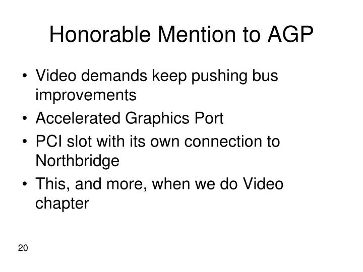 Honorable Mention to AGP