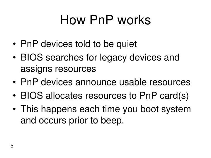 How PnP works