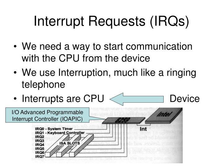 Interrupt Requests (IRQs)