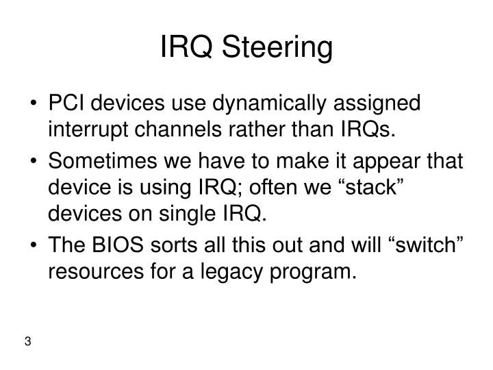 IRQ Steering