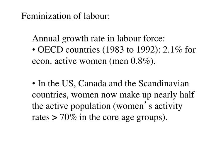 Feminization of labour: