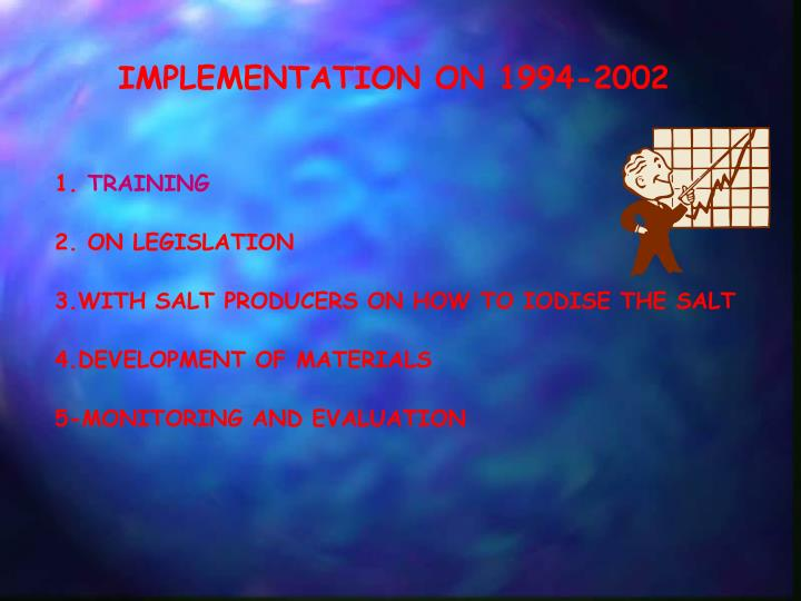 IMPLEMENTATION ON 1994-2002