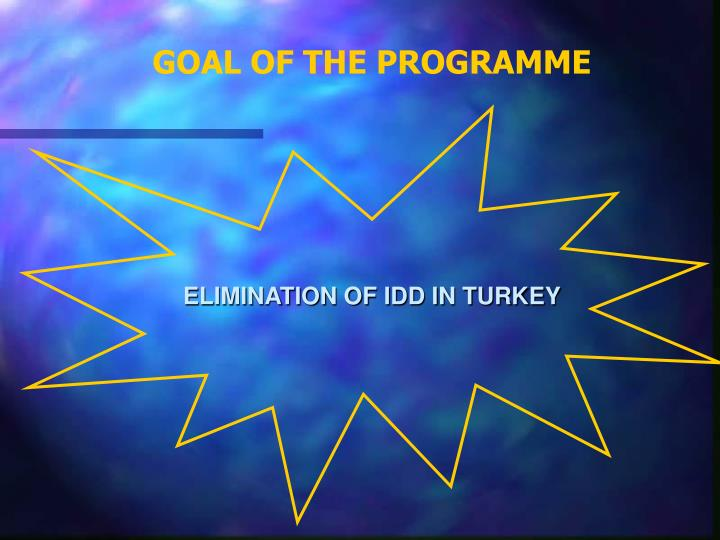 GOAL OF THE PROGRAMME