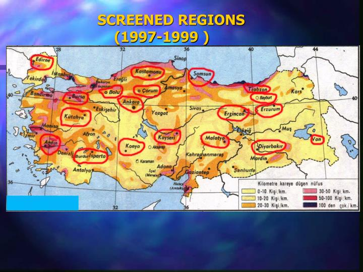 SCREENED REGIONS