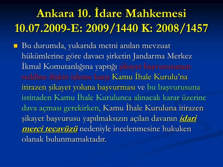 Ankara 10. İdare Mahkemesi