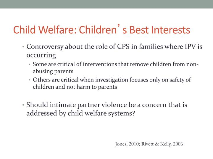 Child Welfare: Children