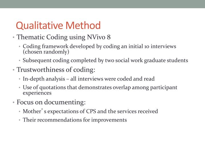 Qualitative Method