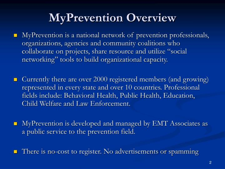 Myprevention overview