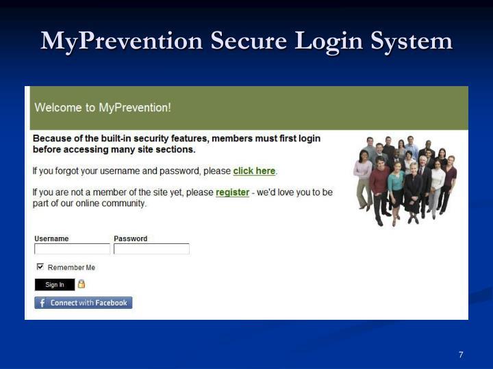 MyPrevention Secure Login System