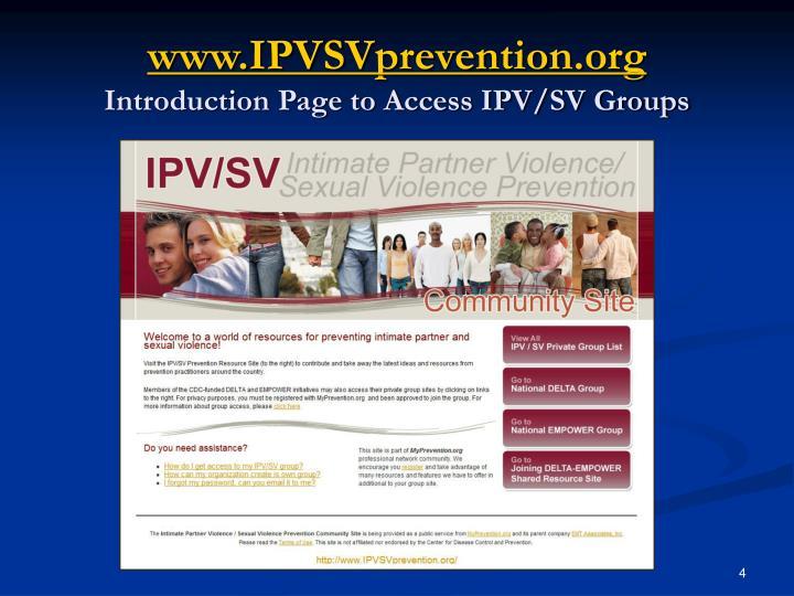 www.IPVSVprevention.org