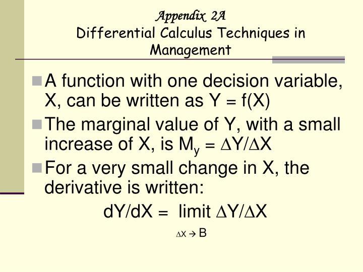 Appendix  2A