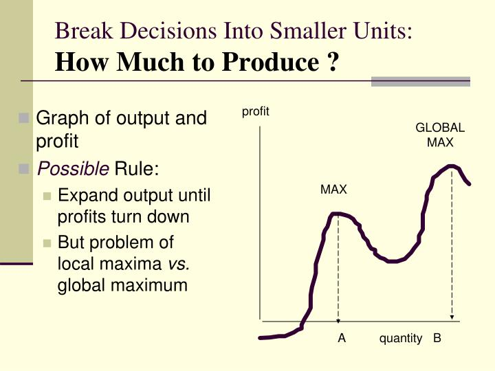 Break Decisions Into Smaller Units: