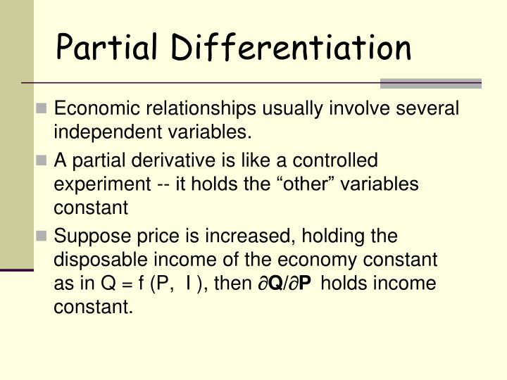 Partial Differentiation