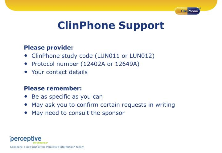 ClinPhone Support