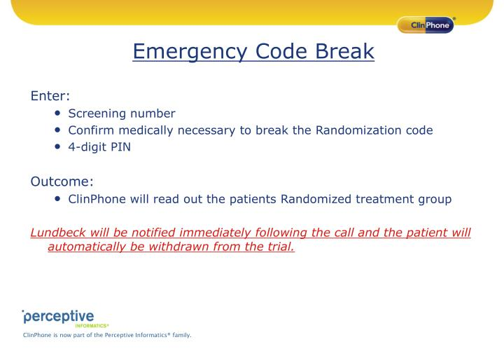 Emergency Code Break