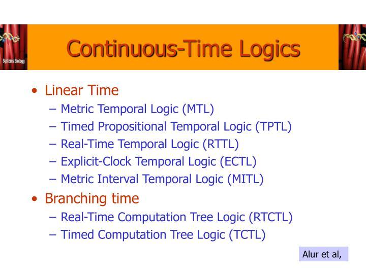 Continuous-Time Logics