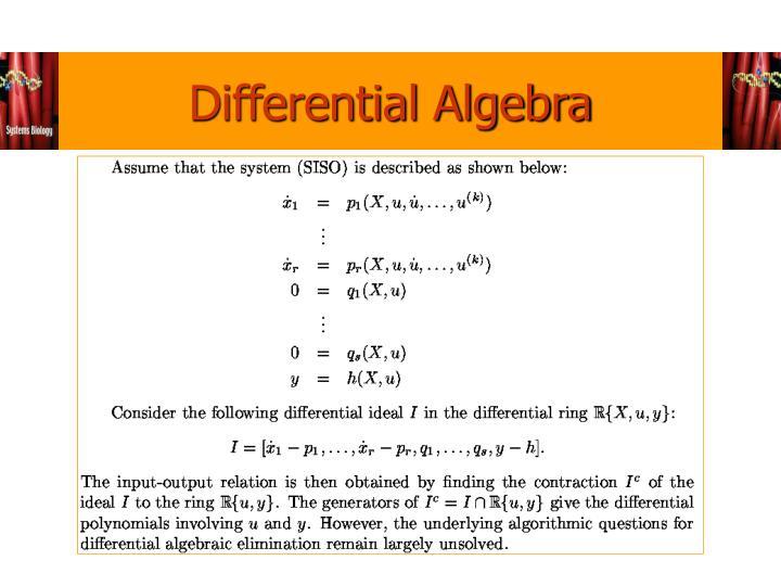 Differential Algebra