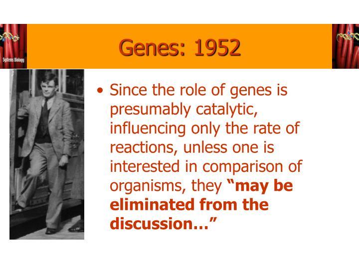 Genes: 1952