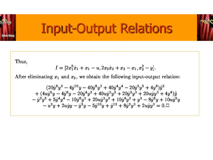 Input-Output Relations